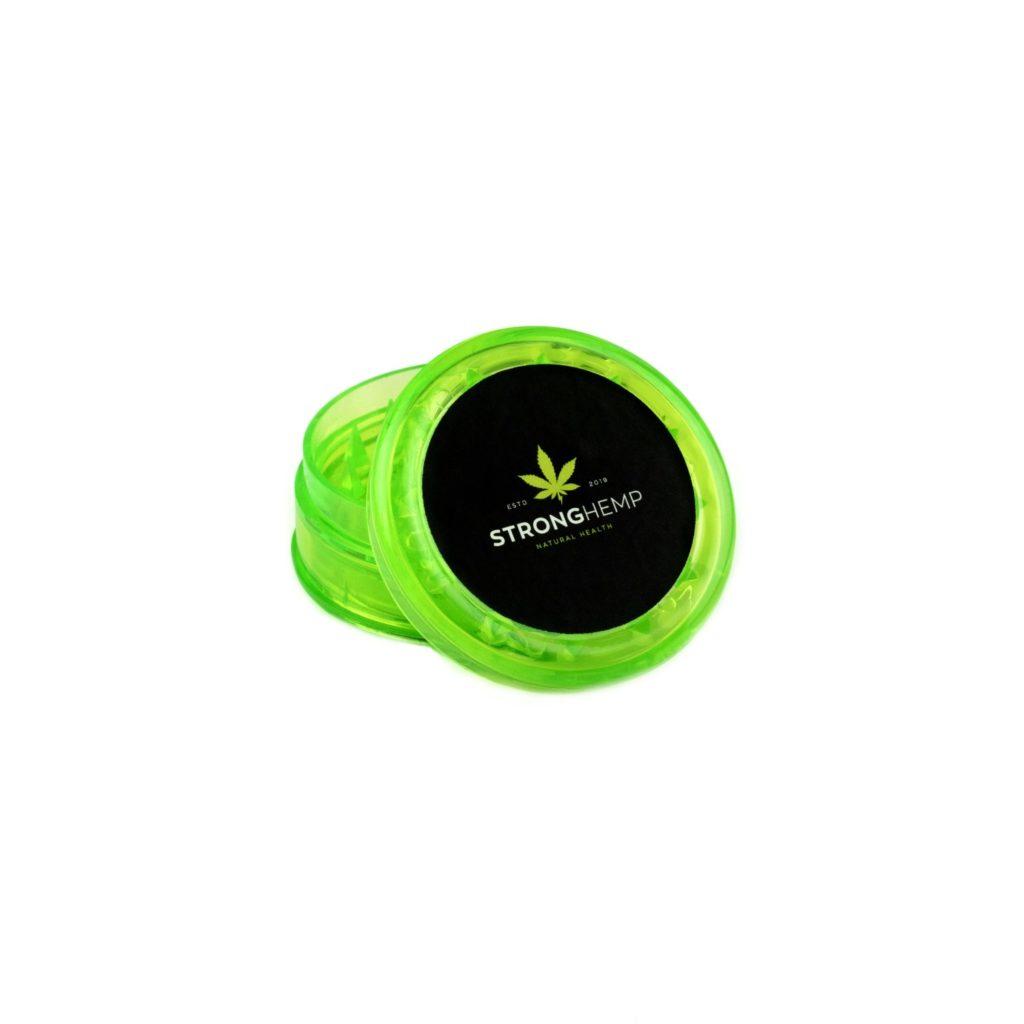 grinder-mlynek-akrylowy-zielony-sklep-cbd-strong-hemp