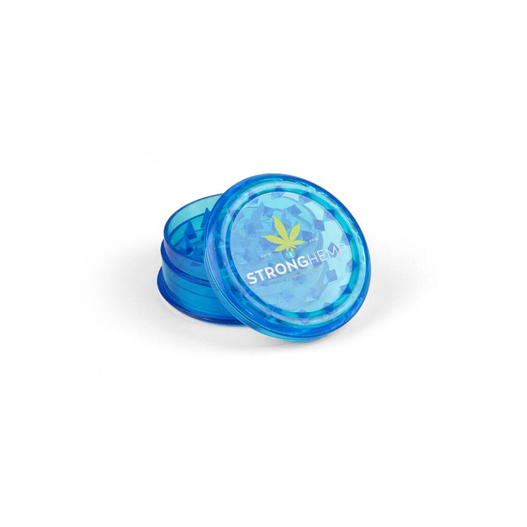 niebieski-mlynek-grinder-akryl-reczny-cbd-susz-konopny-strong-hemp-cbd-sklep